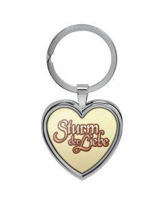 Schlüsselanhänger Herz Gelb - Sturm der Liebe